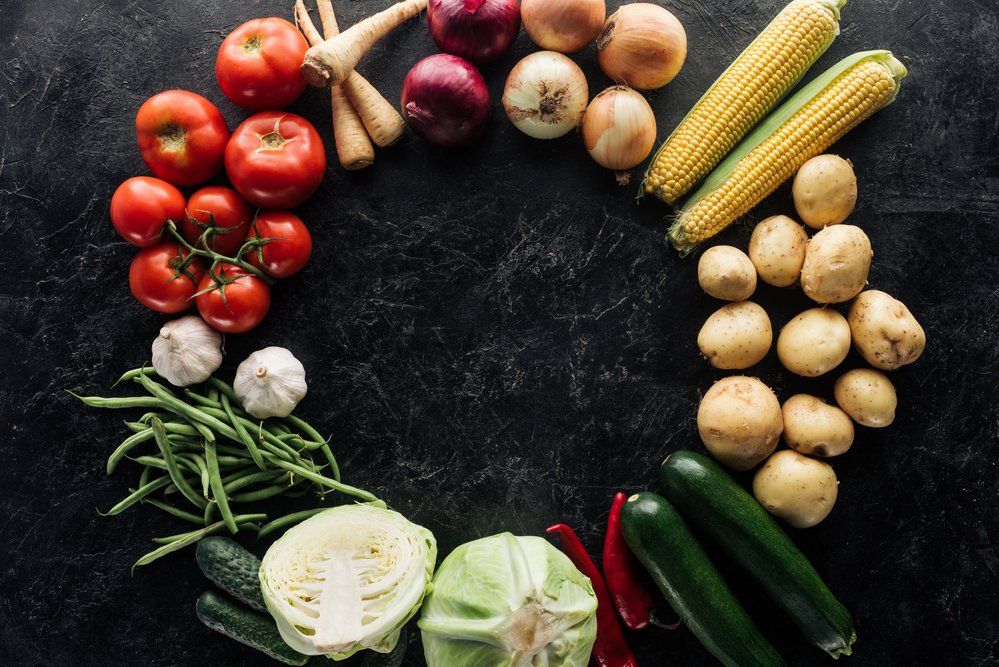 A selection of vegetables. Perfect to eat when food cravings hit and as part of a healthy diet.