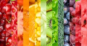 Mixed image of various healthy foods