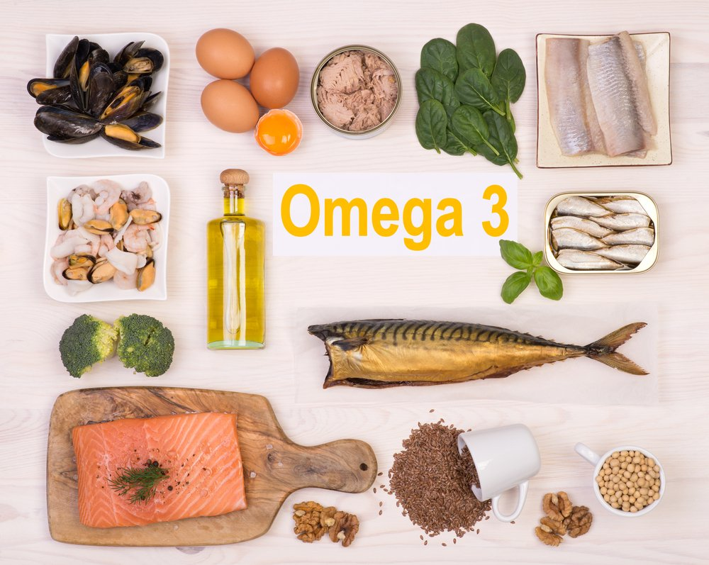 A selection of foods rich in Omega 3 fatty acids