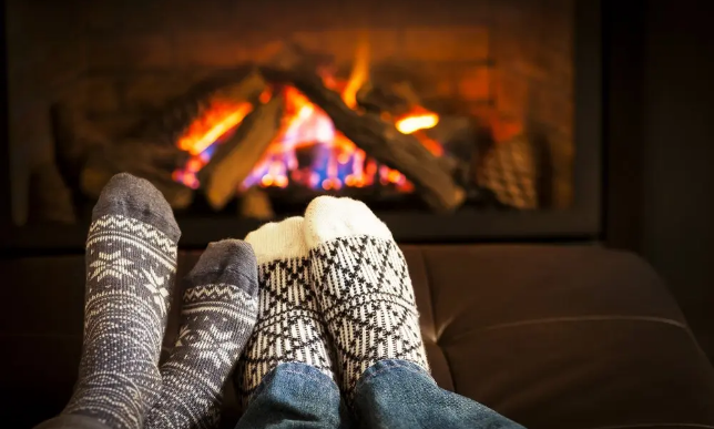 feet with sock