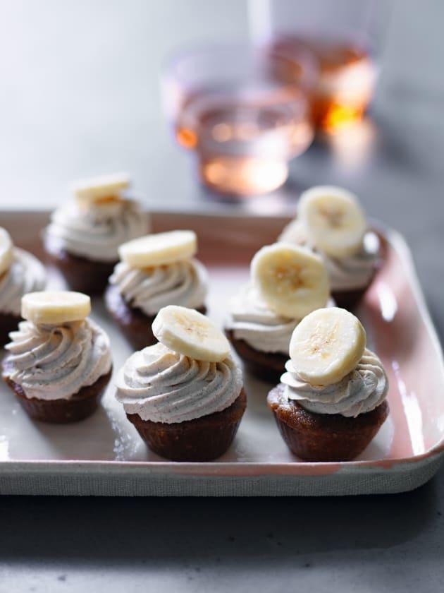 Delicious vegan banana cupcakes