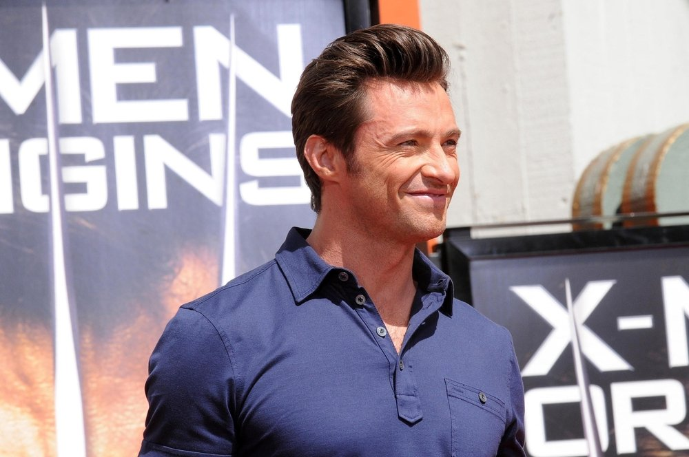 Hugh Jackman at a Hollywood presentation, featuring his icon role Wolverine - for which is underwent a dramatic body transformation.