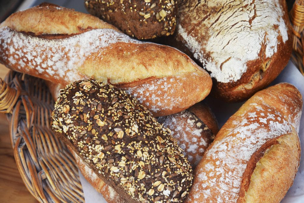 Lots of different types of bread, all high on the glycemic index