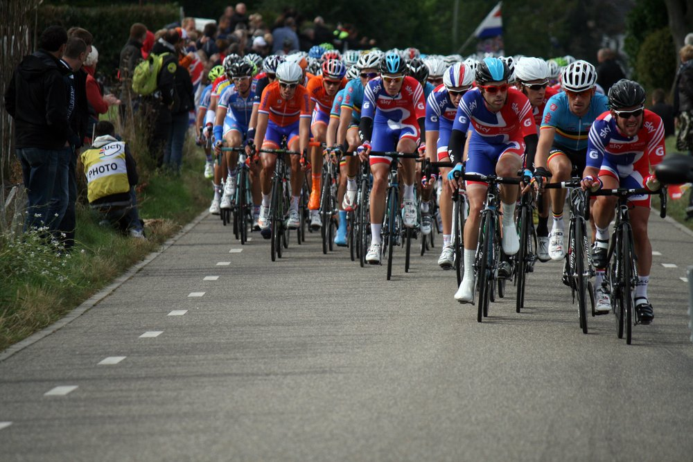Cyclists competing in the Tour de France. Goal setting must be realistic, so an amateur cyclist shouldn't aspire to take part in a race like this.