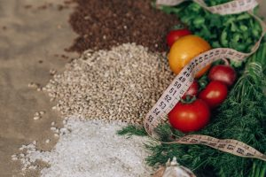 Fresh veg and whole grains - perfect for a healthy diet if you want to commit to health