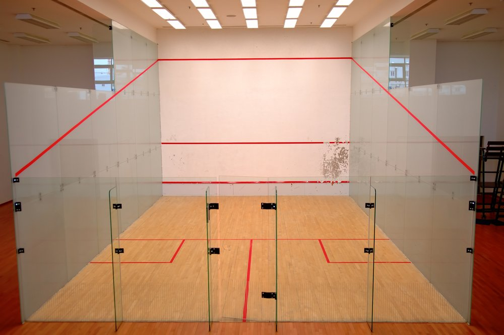 A squash court, marked with the correct lines, is a vital piece of squash equipment.