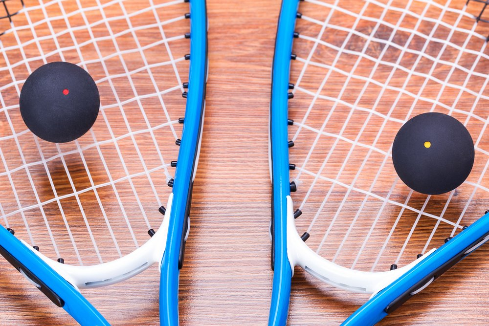 squash racquets and squash balls are essential pieces of squash equipment.
